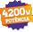 4200W de Potência